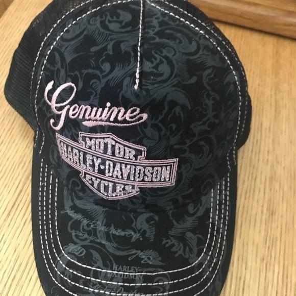 1628d600b393d Harley-Davidson Accessories - Harley-Davidson Women s Mesh Cap   Hat  Crystals